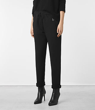 Mujer Pantalones Juno (Black) - product_image_alt_text_3