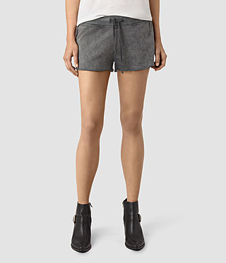 Mujer Miller Sweatshorts (Black) - product_image_alt_text_2