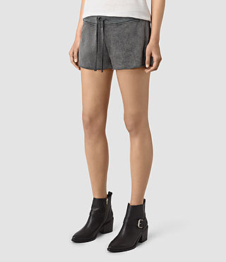 Mujer Miller Sweatshorts (Black) - product_image_alt_text_3