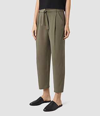 Mujer Palmer Trousers (Light Khaki) - product_image_alt_text_2