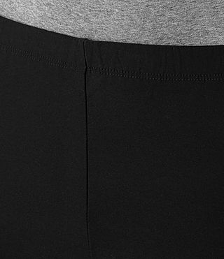 Womens Bandeau Leggings (Jet Black) - product_image_alt_text_6