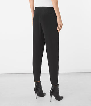 Mujer Helena Silk Trousers (Black) - product_image_alt_text_3