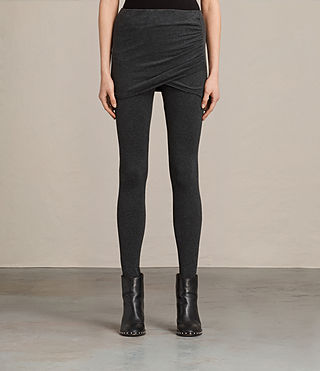 Damen Raffi Gathered Leggings (Charcoal Grey) -