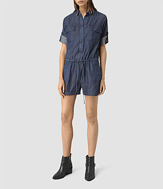 Womens Jura Playsuit (Indigo Blue) - product_image_alt_text_1