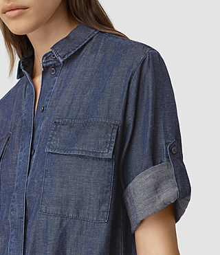 Womens Jura Playsuit (Indigo Blue) - product_image_alt_text_2
