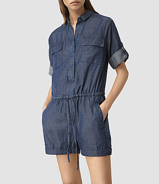 Womens Jura Playsuit (Indigo Blue) - product_image_alt_text_3