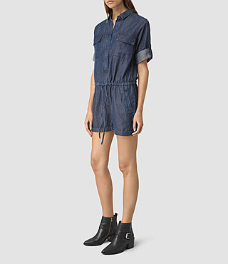 Womens Jura Playsuit (Indigo Blue) - product_image_alt_text_4