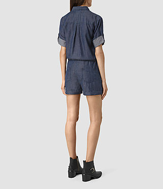 Womens Jura Playsuit (Indigo Blue) - product_image_alt_text_5