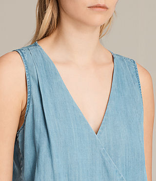 Womens Penny Playsuit (LIGHT INDIGO BLUE) - product_image_alt_text_2
