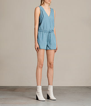 Womens Penny Playsuit (LIGHT INDIGO BLUE) - product_image_alt_text_3