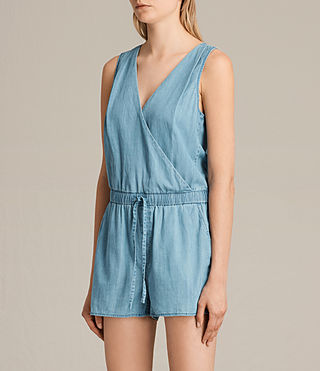 Womens Penny Playsuit (LIGHT INDIGO BLUE) - product_image_alt_text_5