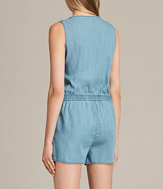 Womens Penny Playsuit (LIGHT INDIGO BLUE) - product_image_alt_text_6