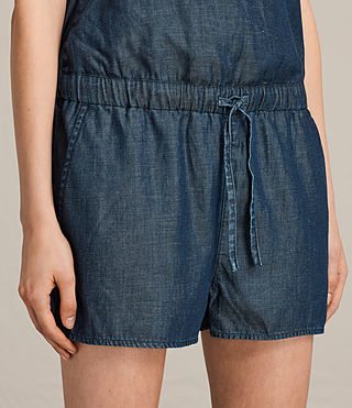Women's Joanna Playsuit (DARK INDIGO BLUE) - product_image_alt_text_2