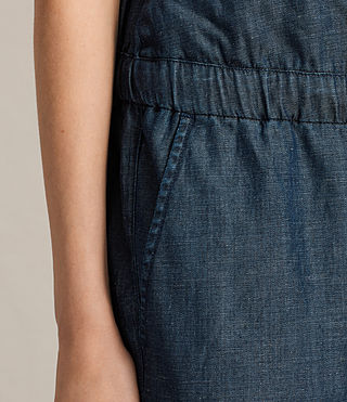 Women's Joanna Playsuit (DARK INDIGO BLUE) - product_image_alt_text_4