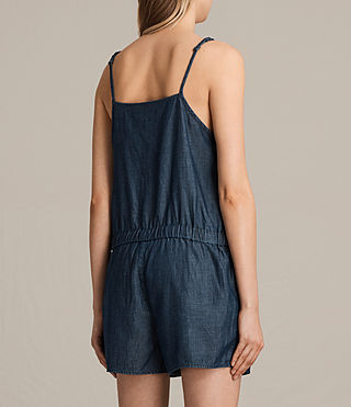 Women's Joanna Playsuit (DARK INDIGO BLUE) - product_image_alt_text_5