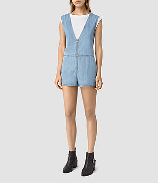 Women's Kylie Playsuit (LIGHT INDIGO BLUE)