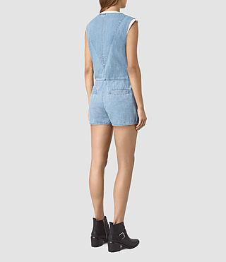 Womens Kylie Playsuit (LIGHT INDIGO BLUE) - product_image_alt_text_5