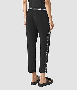 Femmes Misty Tye Trousers (BLACK/CYAN) - product_image_alt_text_3