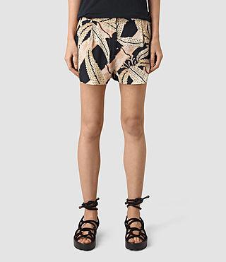 Womens Avia Fuji Shorts (Black) - product_image_alt_text_4