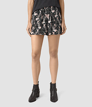 Womens Kaplan Island Silk Shorts (DARK PINK) - product_image_alt_text_2