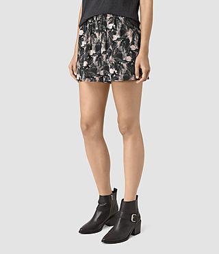 Womens Kaplan Island Silk Shorts (DARK PINK) - product_image_alt_text_3