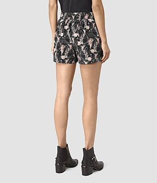Womens Kaplan Island Silk Shorts (DARK PINK) - product_image_alt_text_4