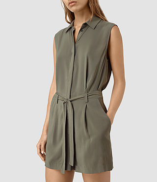 Womens Nila T Romper (EARTHY GREEN)