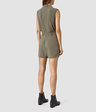 Women's Nila T Playsuit (EARTHY GREEN) - product_image_alt_text_4