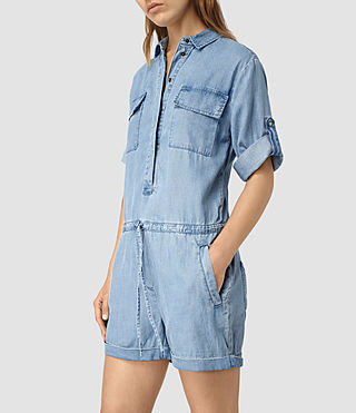 Womens Jura Playsuit (LIGHT INDIGO BLUE)