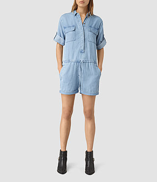 Women's Jura Playsuit (LIGHT INDIGO BLUE) - product_image_alt_text_2