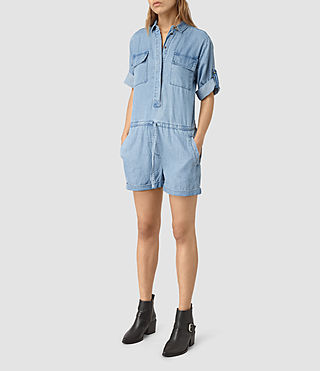 Womens Jura Playsuit (LIGHT INDIGO BLUE) - product_image_alt_text_3
