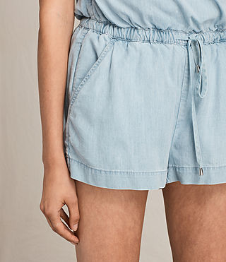 Femmes Combi-Short Andy (LIGHT INDIGO BLUE) - Image 2