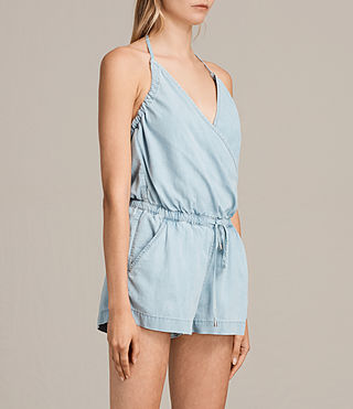 Femmes Combi-Short Andy (LIGHT INDIGO BLUE) - Image 4