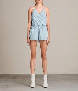 Femmes Combi-Short Andy (LIGHT INDIGO BLUE) - Image 5