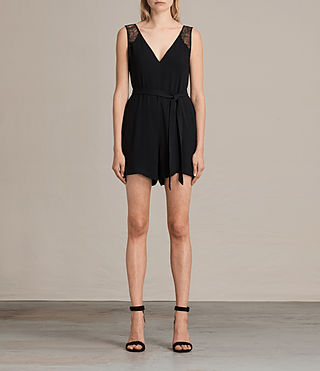 Donne Cate Playsuit (Black) -