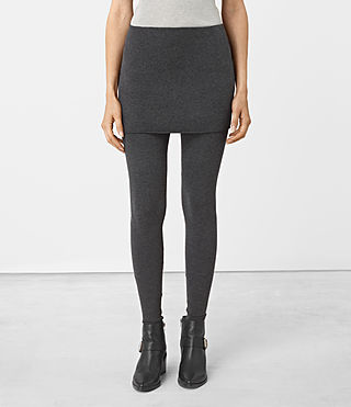 Mujer Raffi Leggings (Charcoal Grey)