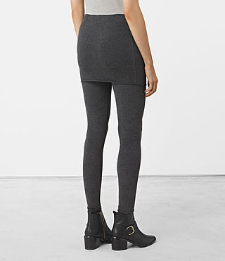 Women's Raffi Leggings (Charcoal Grey) - product_image_alt_text_3