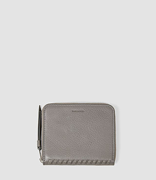 Women's Club Leather Coin Purse (Mid Grey)