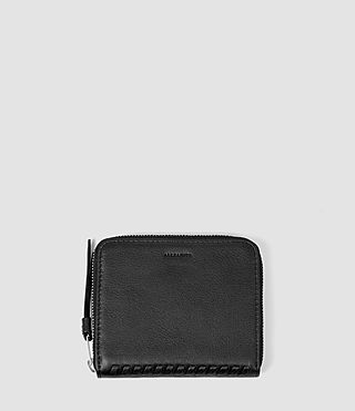 Femmes Club Leather Coin Purse (Black) -