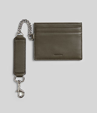 Womens Fin Leather Cardholder (Dark Khaki) - Image 1