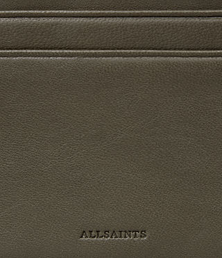 Womens Fin Leather Cardholder (Dark Khaki) - Image 2