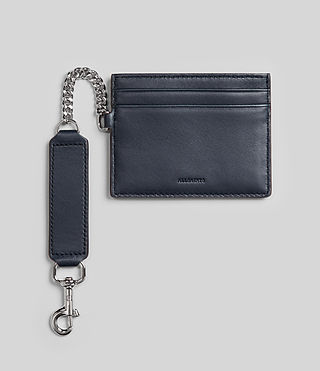 Womens Fin Leather Cardholder (NAVY BLUE) - product_image_alt_text_1