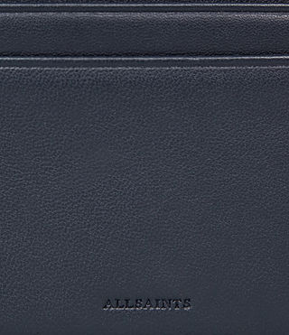 Womens Fin Leather Cardholder (NAVY BLUE) - product_image_alt_text_2