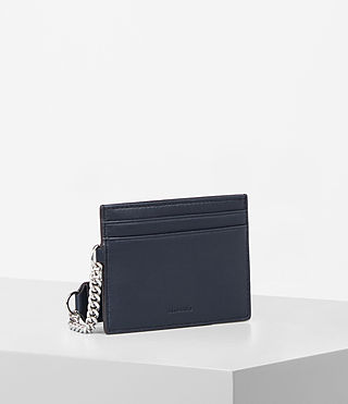 Womens Fin Leather Cardholder (NAVY BLUE) - product_image_alt_text_3