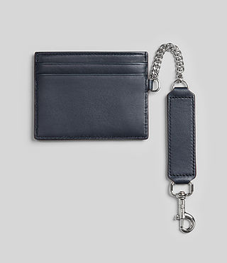 Womens Fin Leather Cardholder (NAVY BLUE) - product_image_alt_text_4