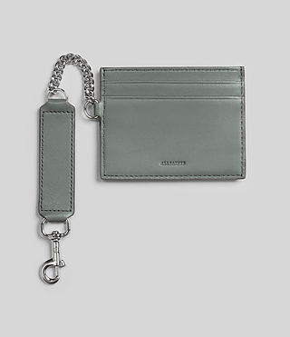 Damen Fin Leather Cardholder (LIGHT SLATE BLUE) -