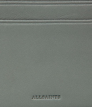 Mujer Fin Leather Cardholder (LIGHT SLATE BLUE) - Image 2