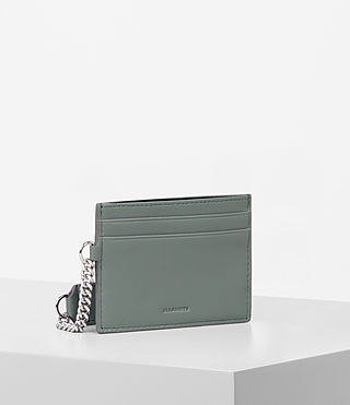 Mujer Fin Leather Cardholder (LIGHT SLATE BLUE) - Image 3