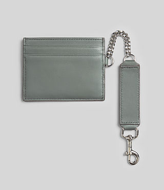 Mujer Fin Leather Cardholder (LIGHT SLATE BLUE) - Image 4