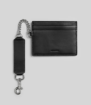 Womens Fin Leather Cardholder (Black) - product_image_alt_text_1